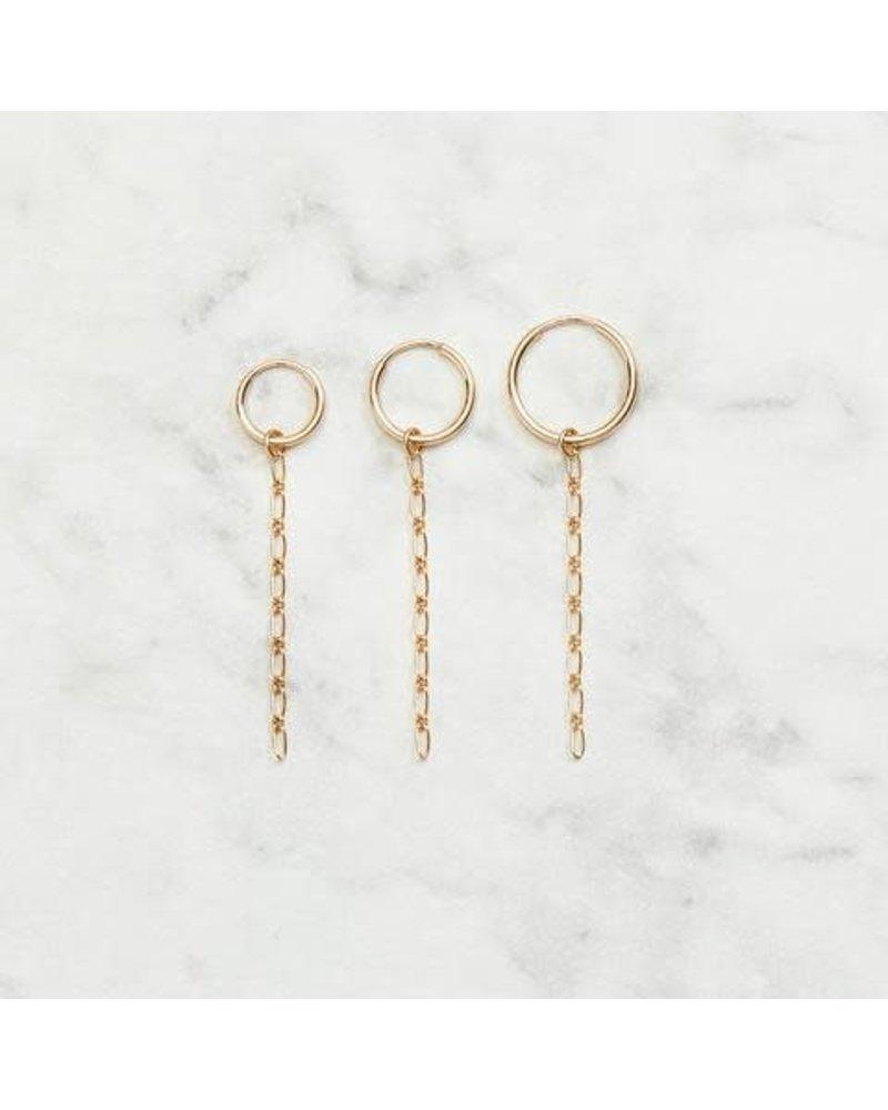 Koi d'Azur KDZ - Gold Hoop Earring   Nori Chain