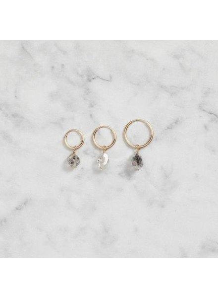 Koi d'Azur KDZ - Gold Hoop La boucle d'oreilles - Herkimer Diamond