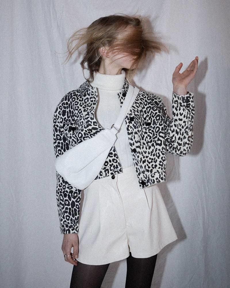 Mika-Elles Veste Leopard | Noir et Blanc