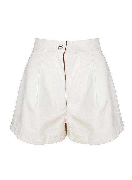 Daphnea Short Faux Cuir | Blanc