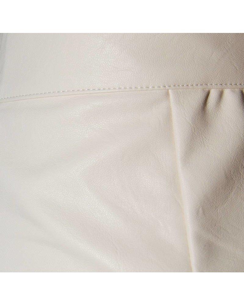 Daphnea Short Faux Cuir   Blanc