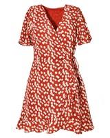 Daphnea Robe Fleur Croisées | Rouge