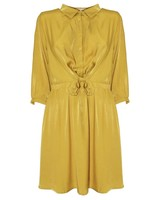 YCOO Robe Satin Look | Moutarde