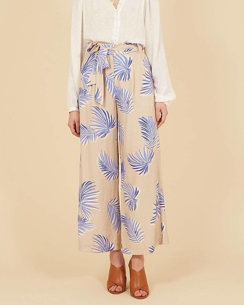 FRNCH Pantalon Pascalina | Beige Bleu