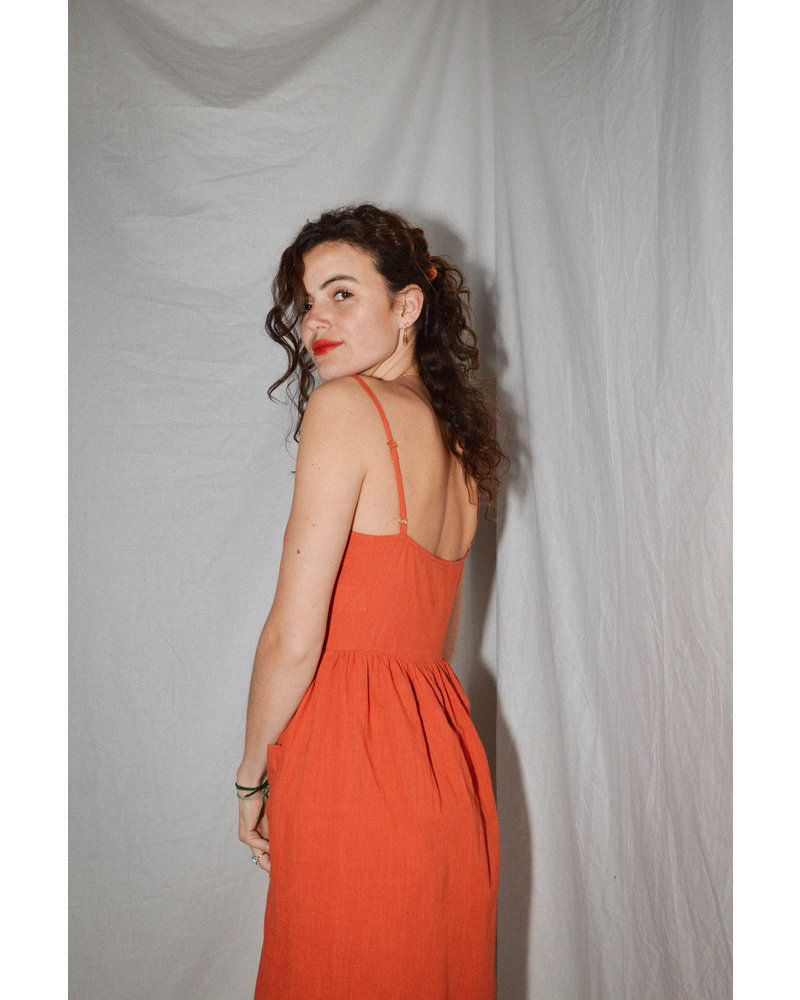 Daphnea Robe Isabella | Brique