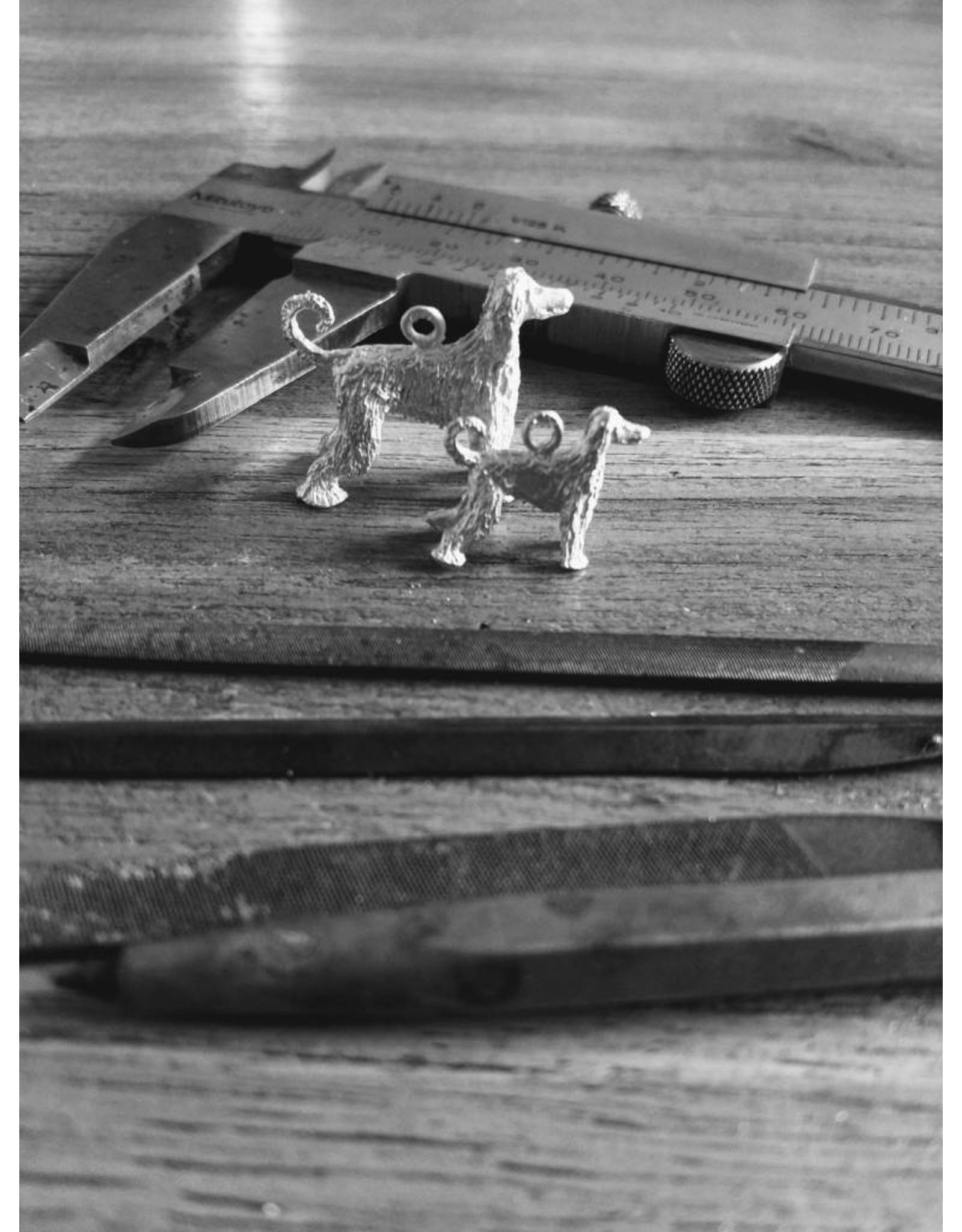 Handmade by Hanneke Weigel Zilveren afghaanse windhond