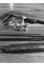 Handmade by Hanneke Weigel Sterling silver Jack russel terrier wirehaired