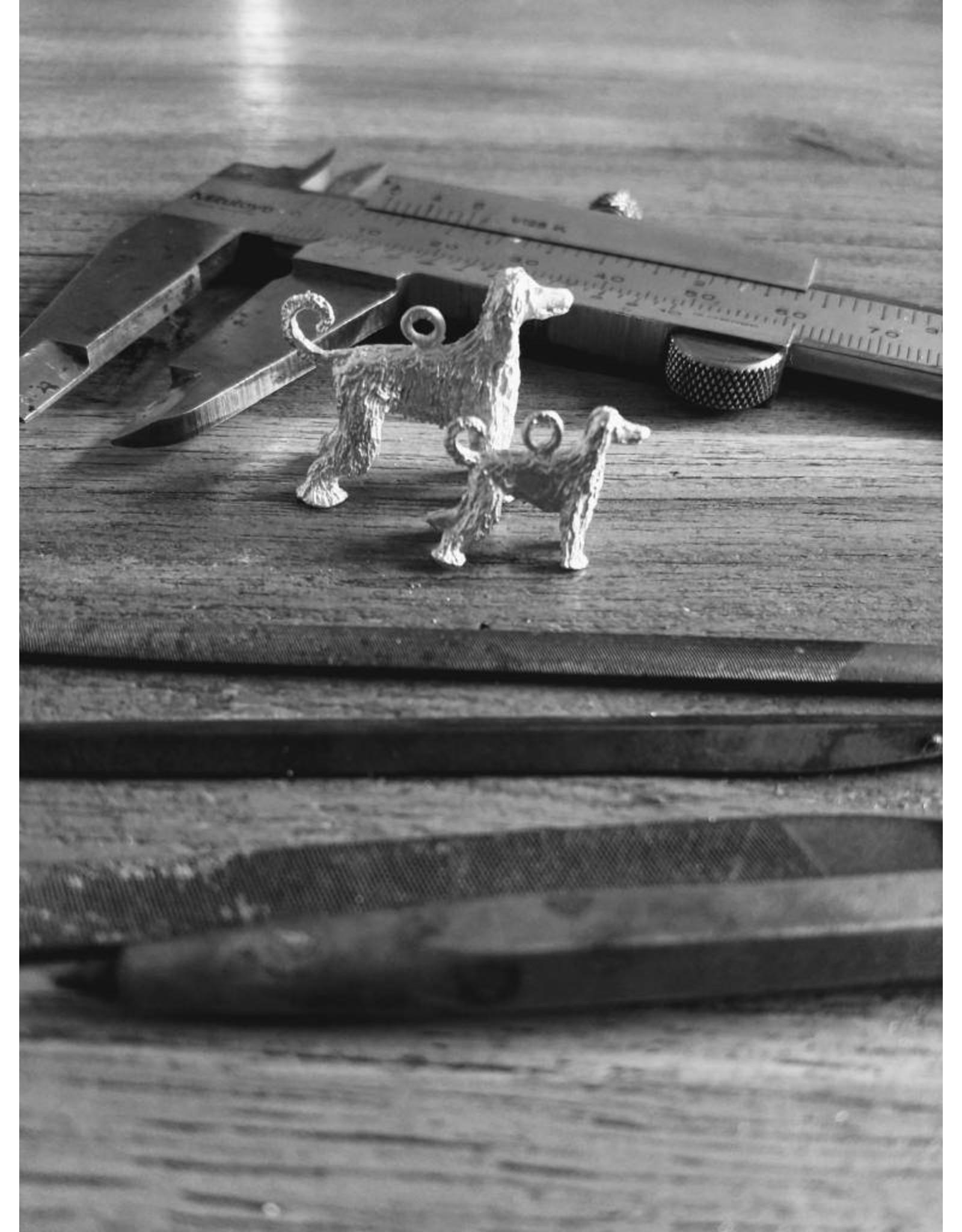 Handmade by Hanneke Weigel Zilveren Petit chien lion ( leeuwhondje)