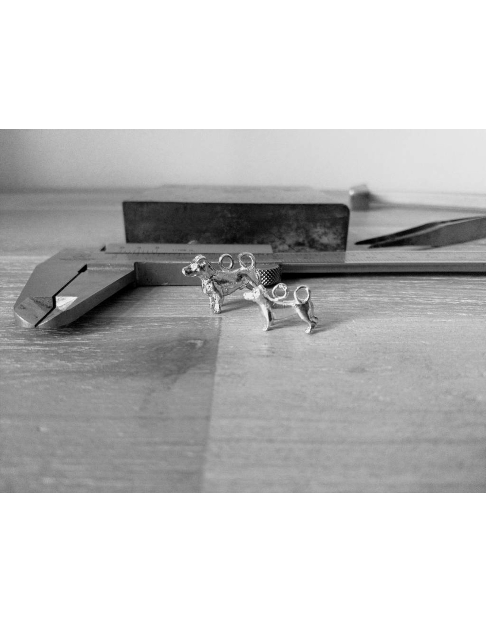 Handmade by Hanneke Weigel Sterling silver Jack russel terrier