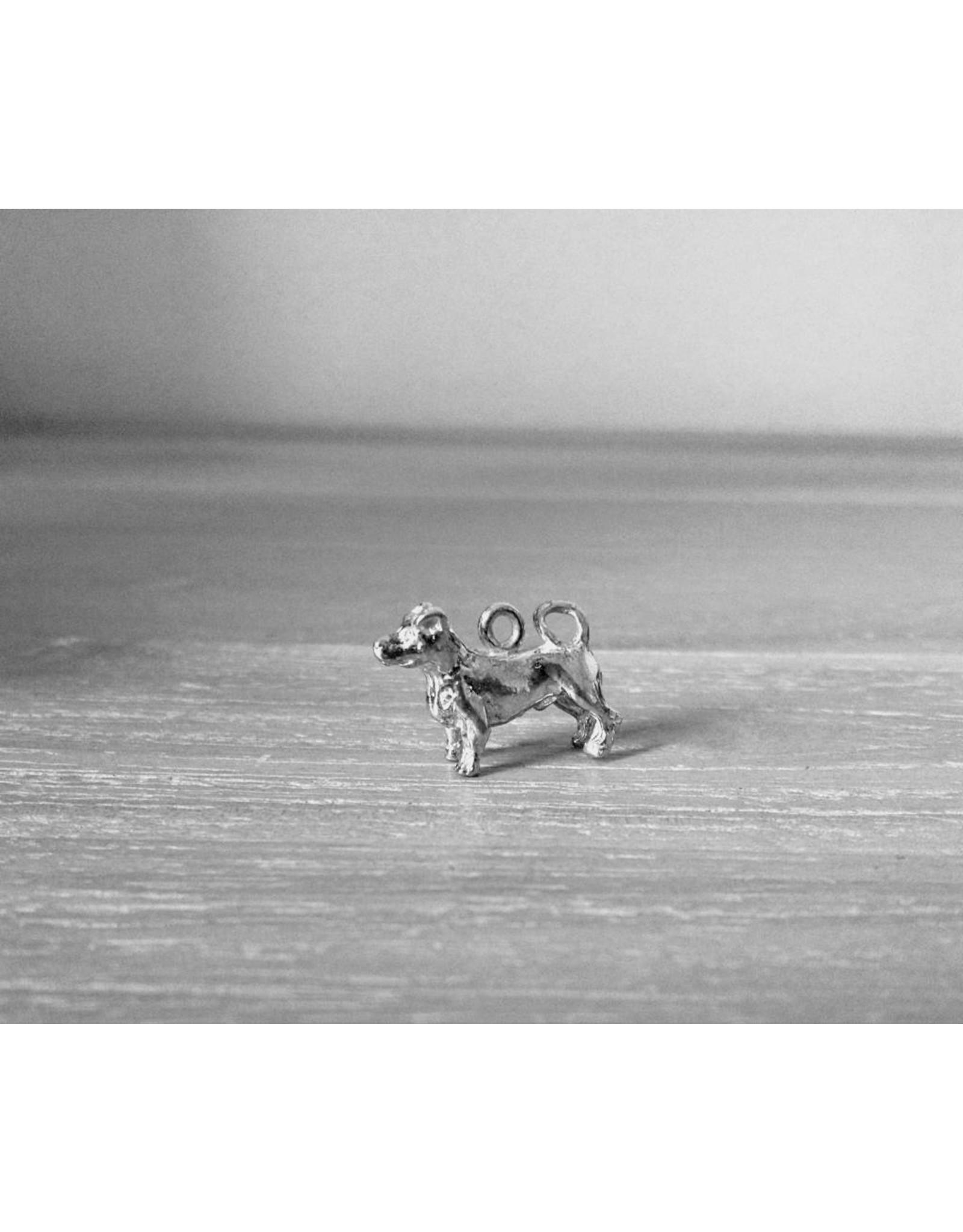 Handmade by Hanneke Weigel Zilveren Jack russel terrier gladhaar