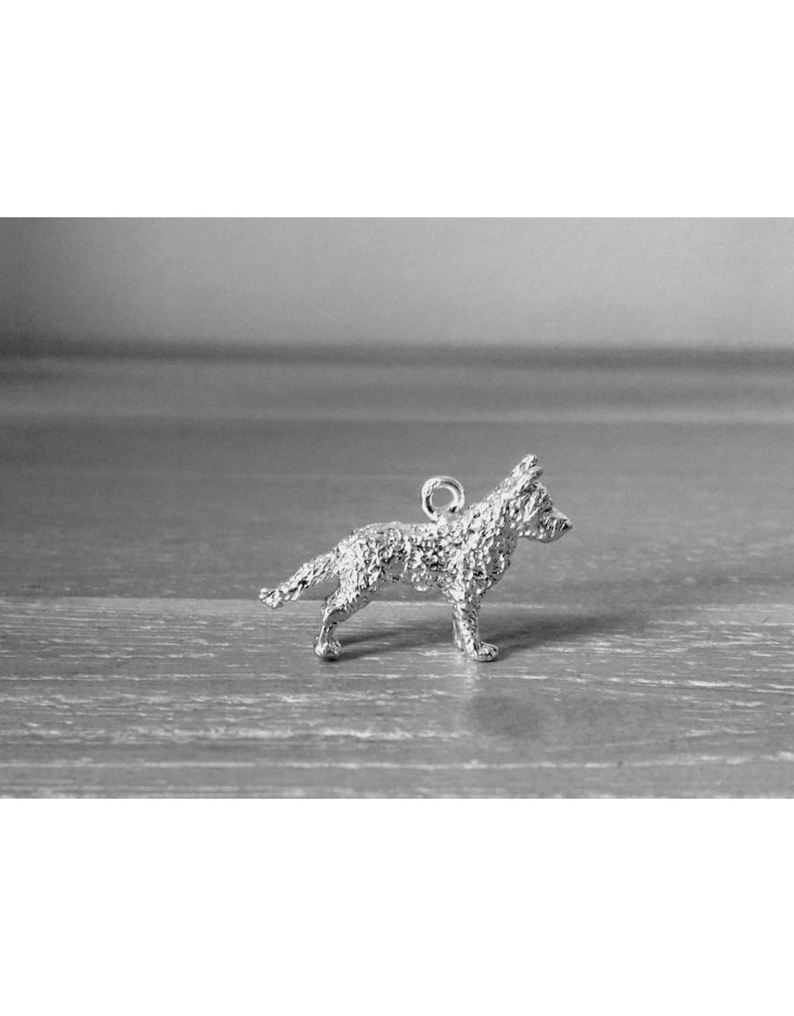 Handmade by Hanneke Weigel Sterling silver Dutch shepherd wirehaired