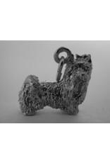 Handmade by Hanneke Weigel Zilveren Yorkshire terrier minder haar