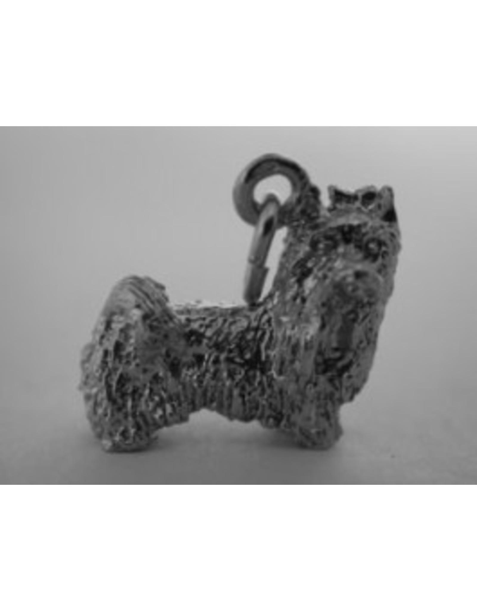 Handmade by Hanneke Weigel Sterling silver Yorkshire terrier minder haar