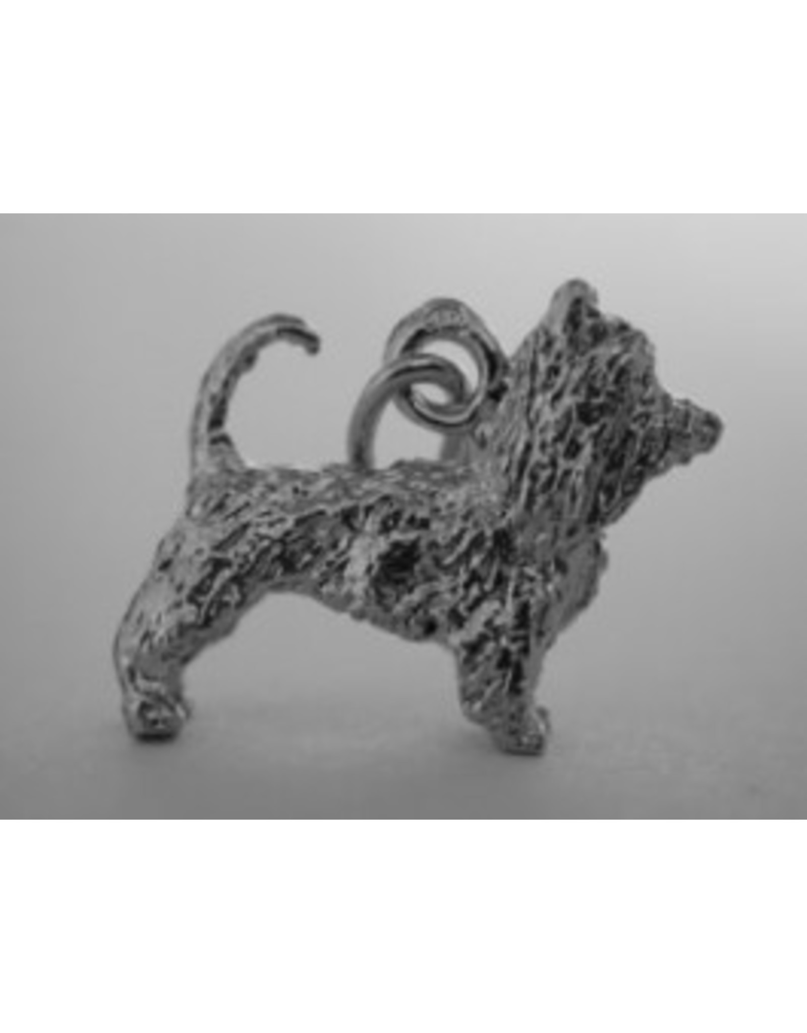 Handmade by Hanneke Weigel Zilveren Yorkshire terrier huismodel