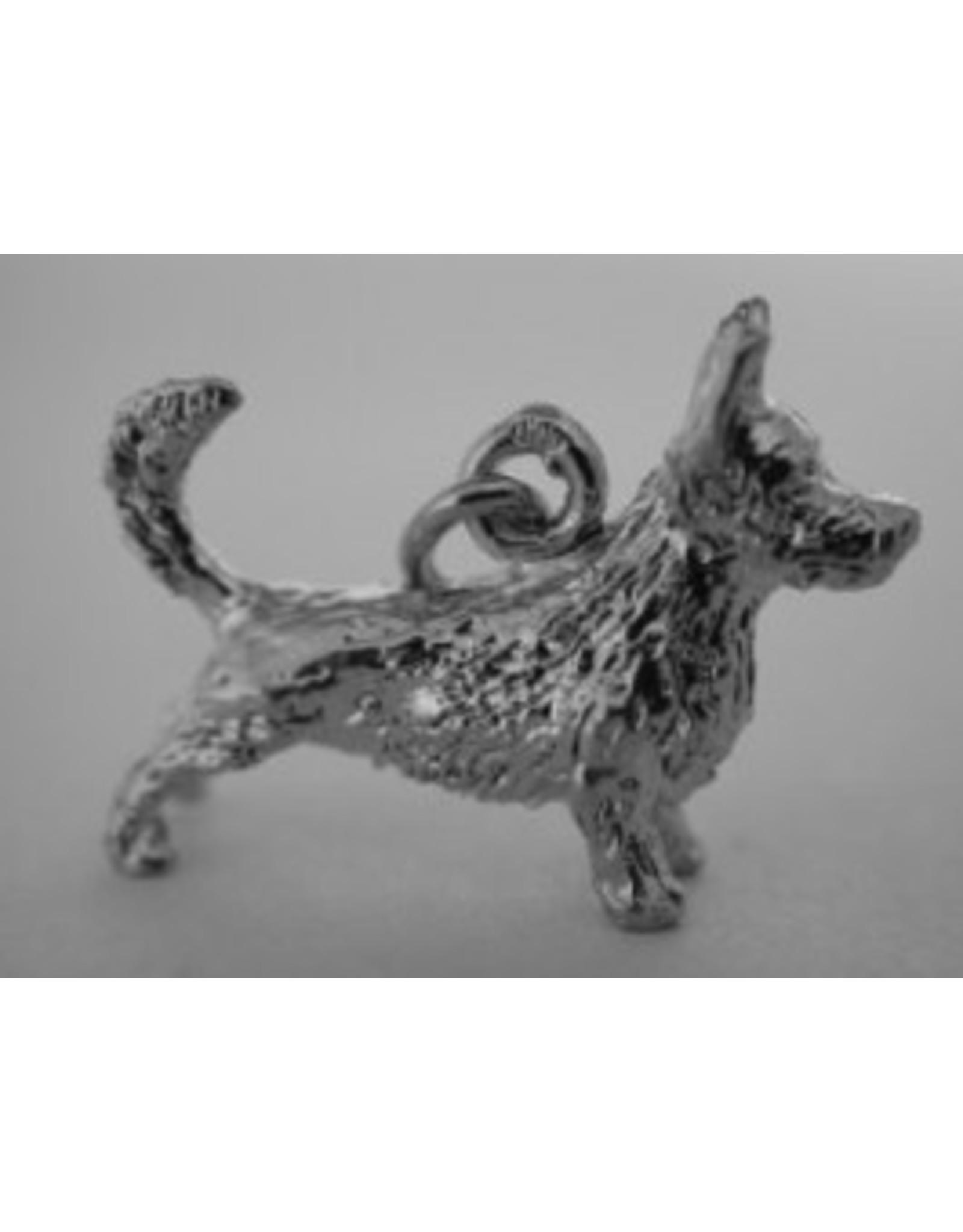 Handmade by Hanneke Weigel Zilveren Welsh corgi pembroke