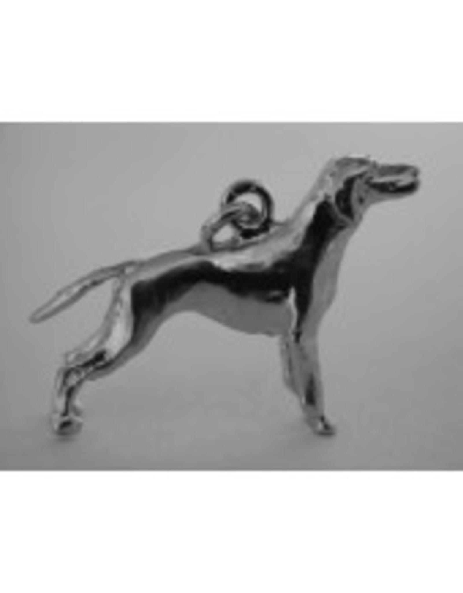 Handmade by Hanneke Weigel Sterling silver Vizsla