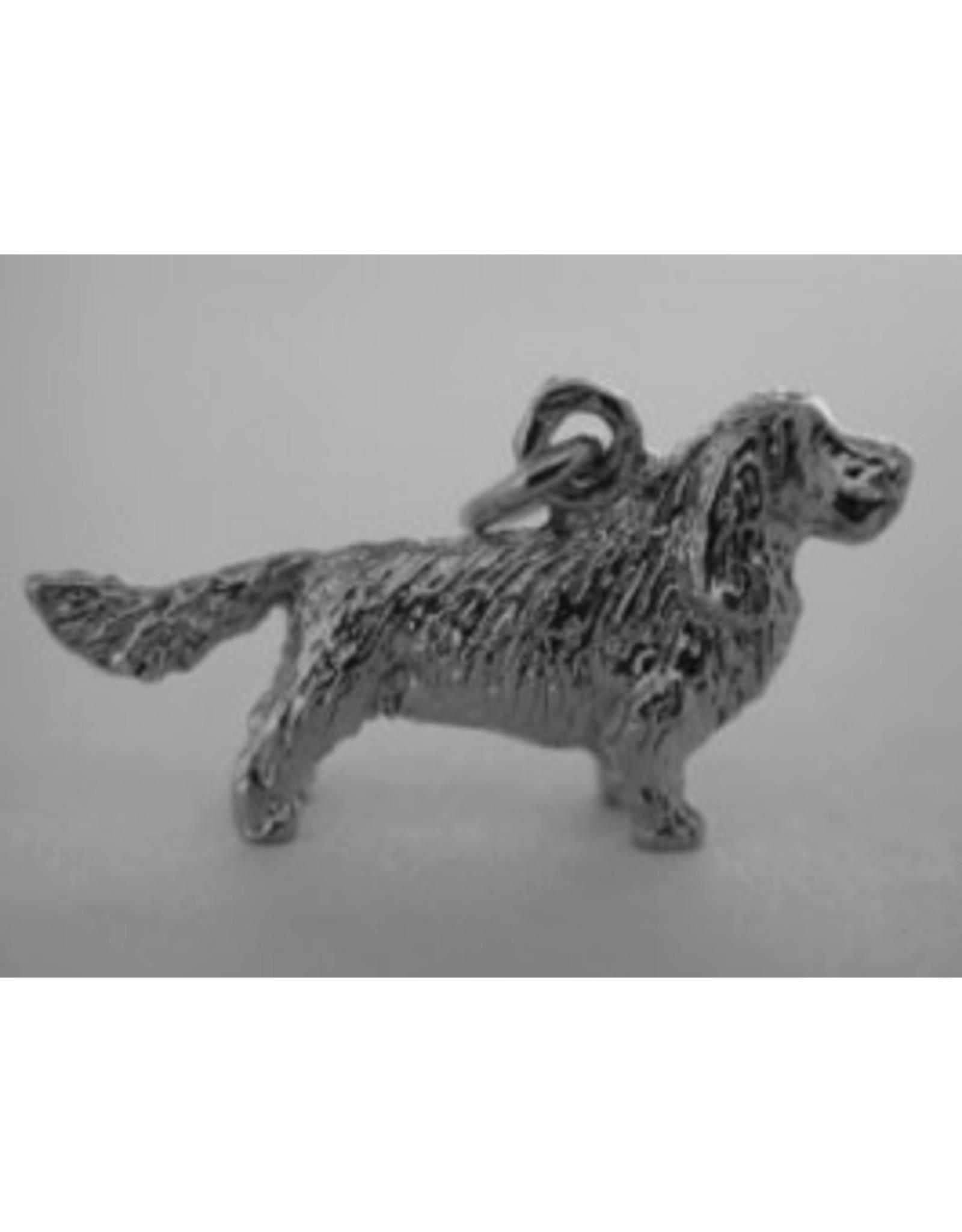 Handmade by Hanneke Weigel Sterling silver Sussex spaniel