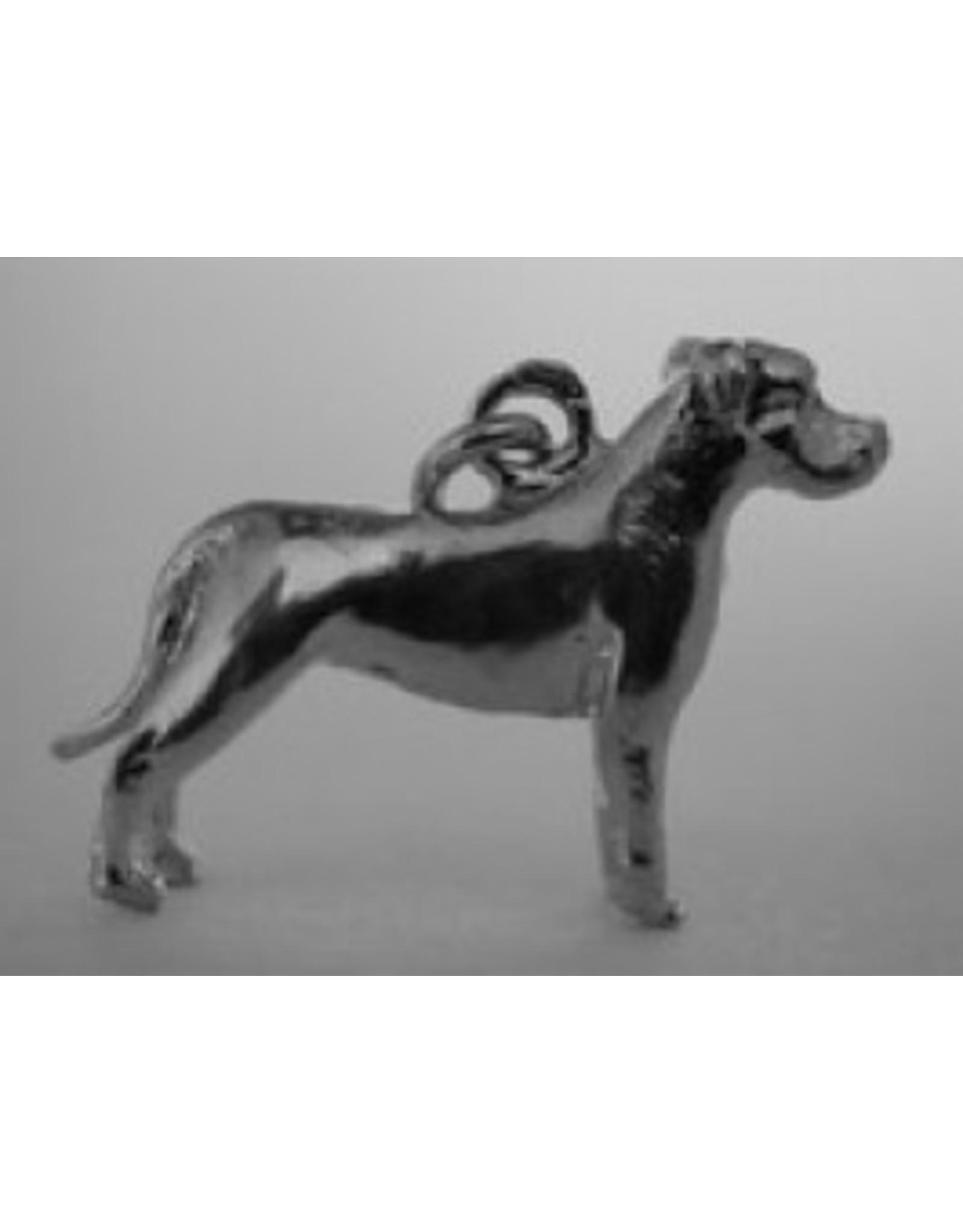 Handmade by Hanneke Weigel Sterling silver American staffordshire terrier