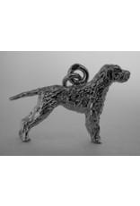 Handmade by Hanneke Weigel Zilveren Slowaakse ruwharige staande hond