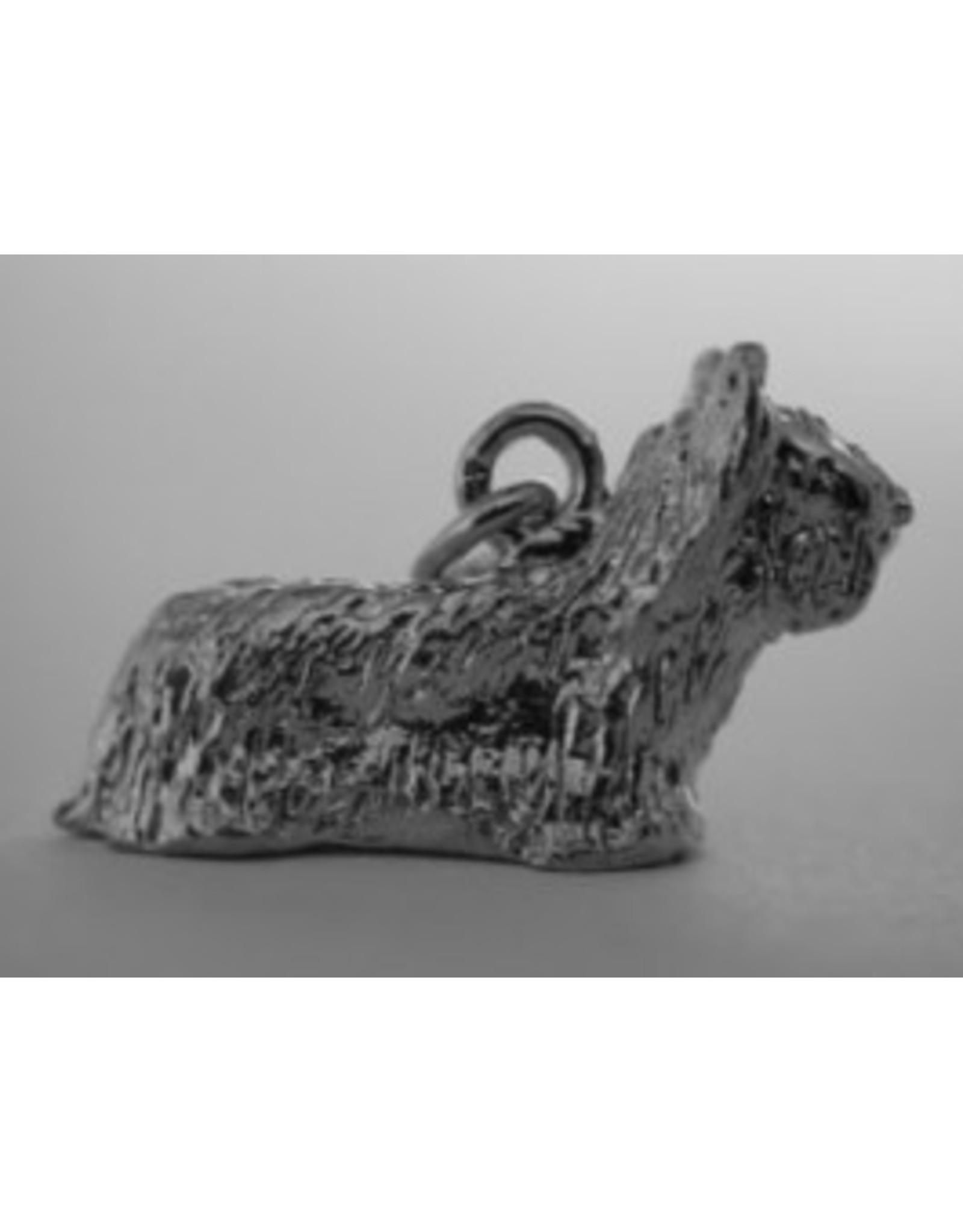 Handmade by Hanneke Weigel Zilveren Skye terrier