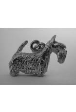 Handmade by Hanneke Weigel Zilveren Schotse terrier