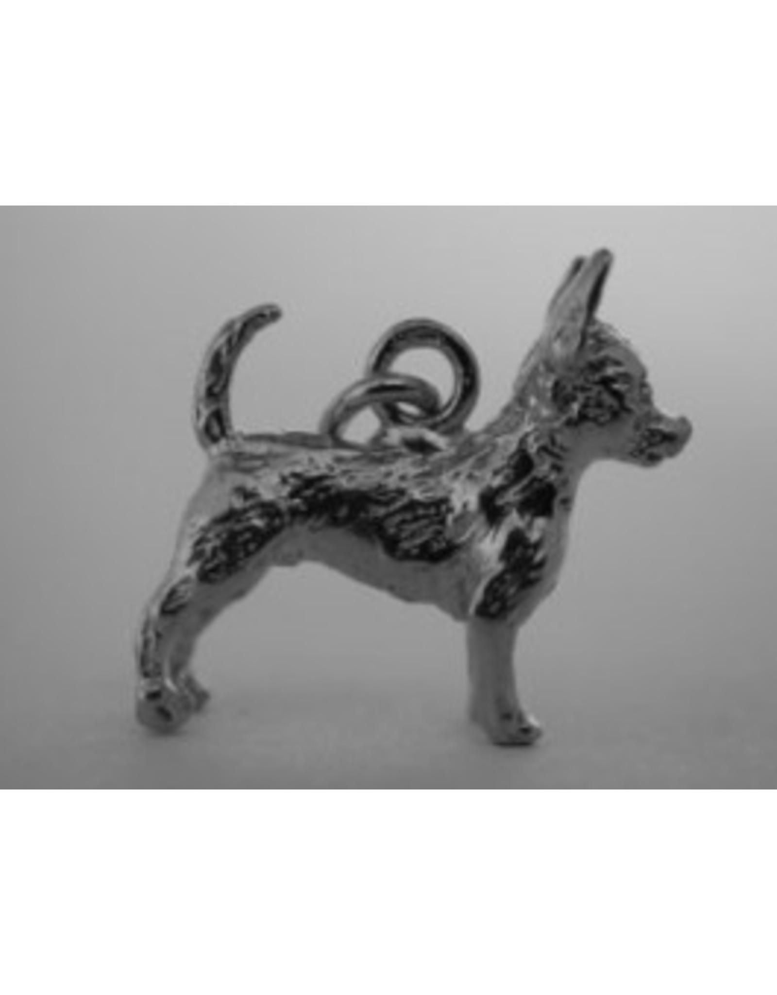 Handmade by Hanneke Weigel Zilveren Podenco portugues pequeno