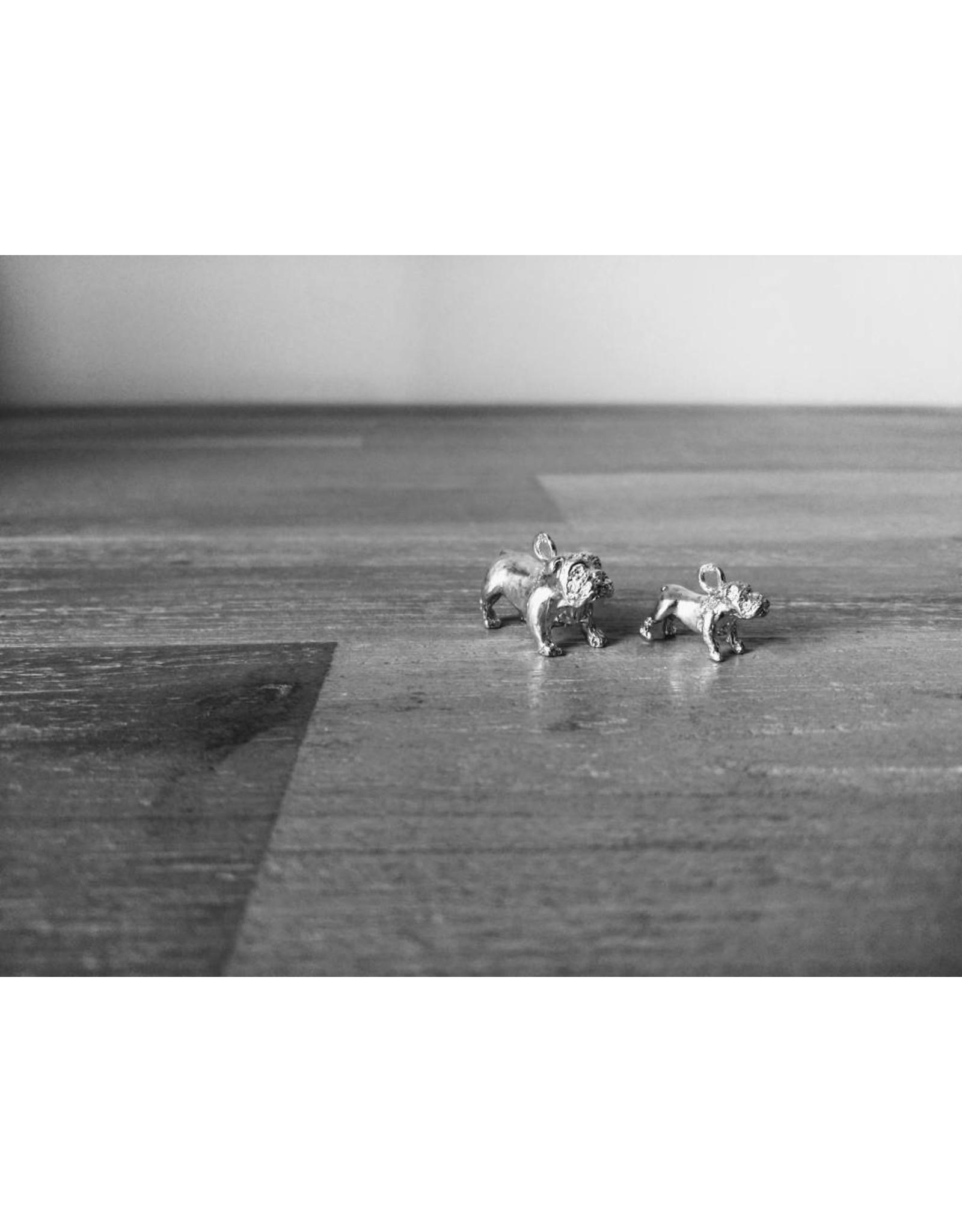 Handmade by Hanneke Weigel Zilveren Old english bulldog