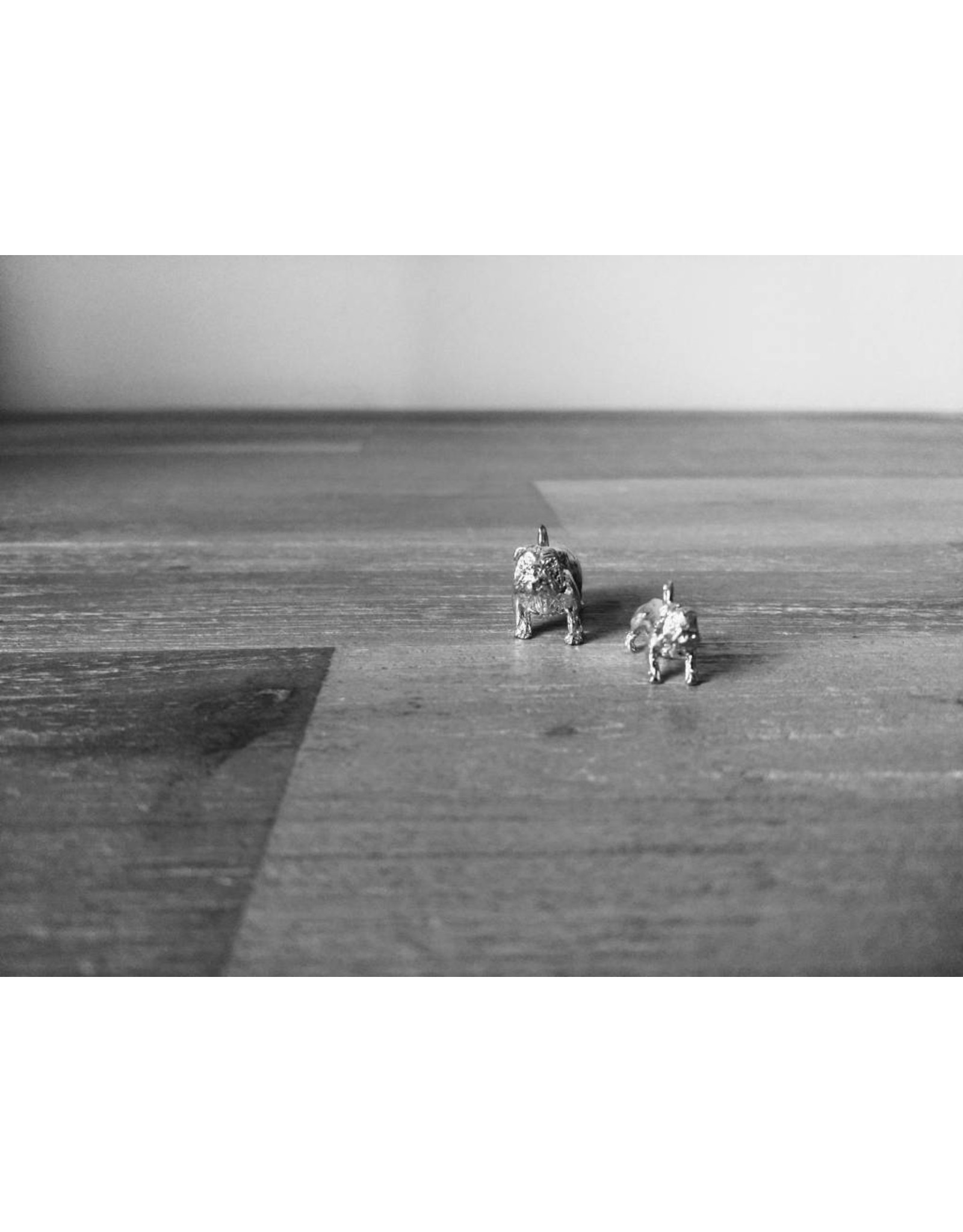 Handmade by Hanneke Weigel Sterling silver Old english bulldog