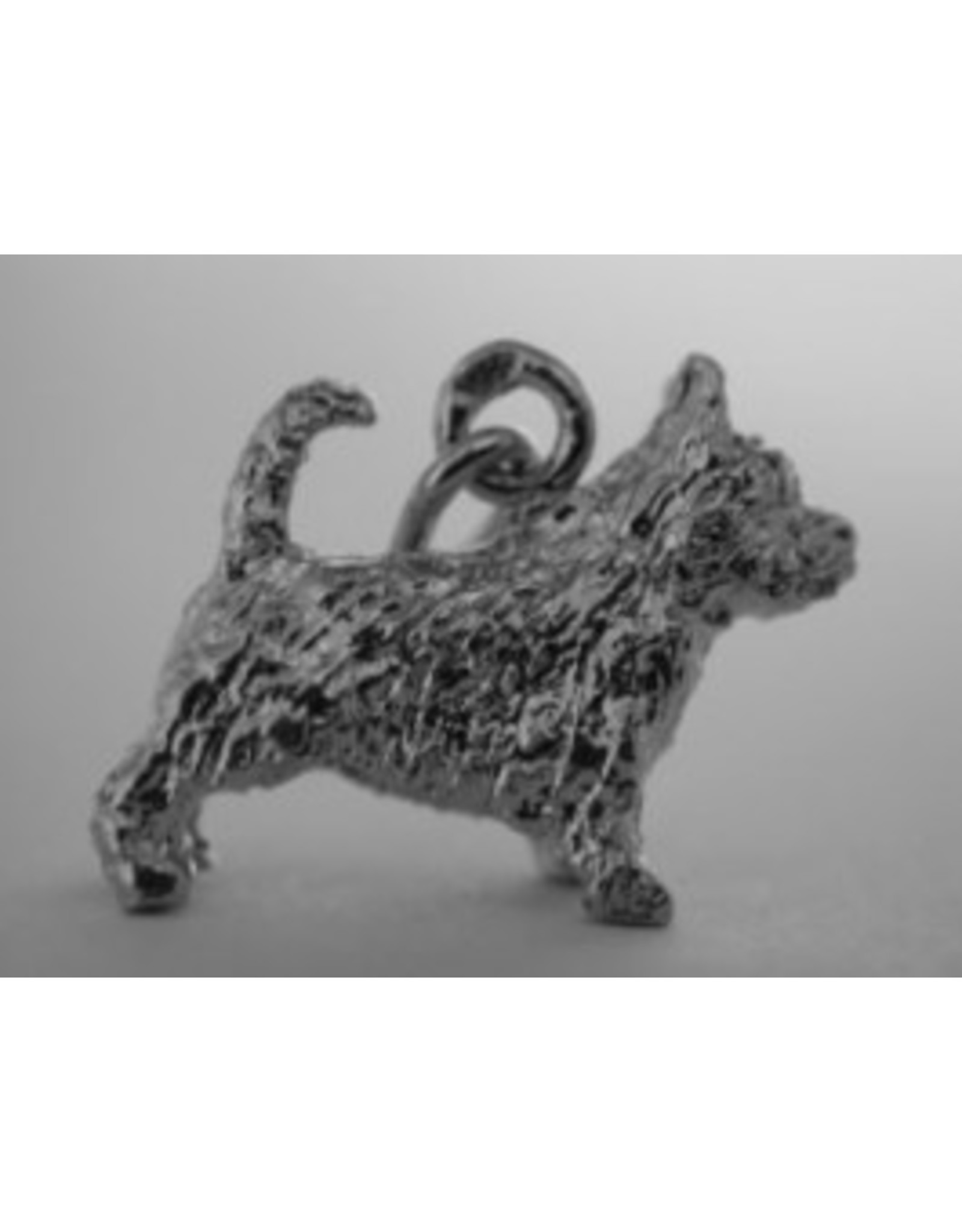 Handmade by Hanneke Weigel Zilveren Norwich terrier