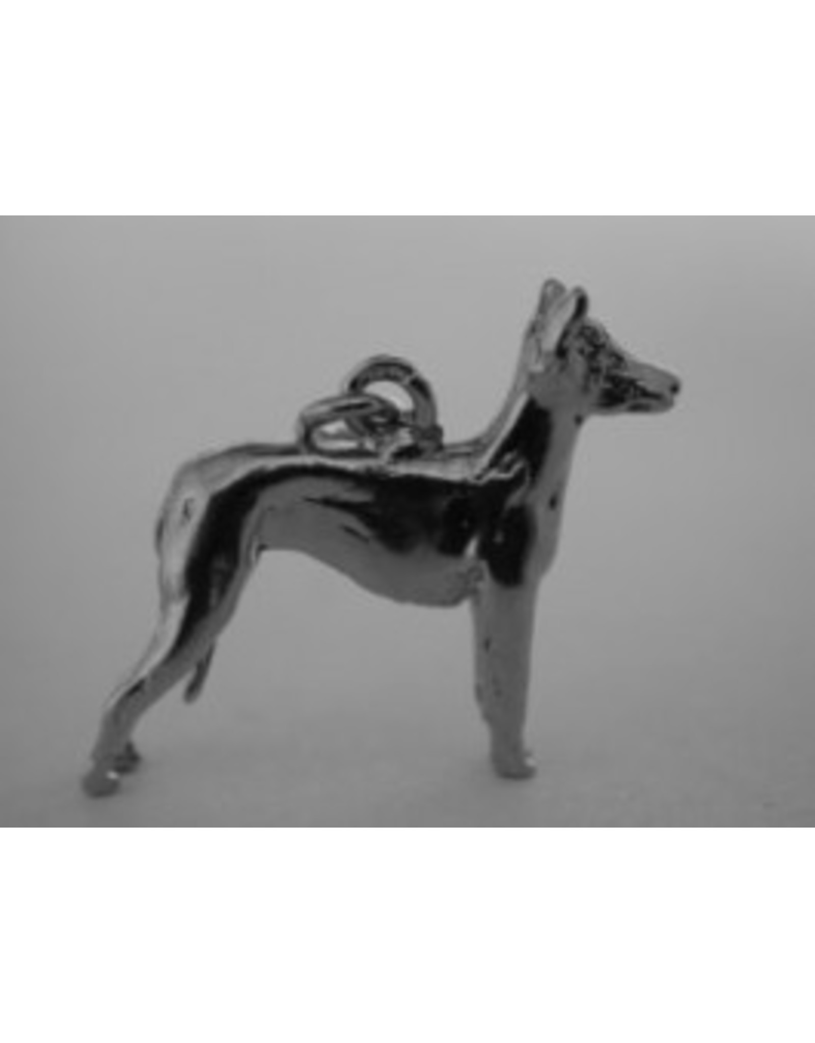 Handmade by Hanneke Weigel Sterling silver Peruvian hairless dog - Copy