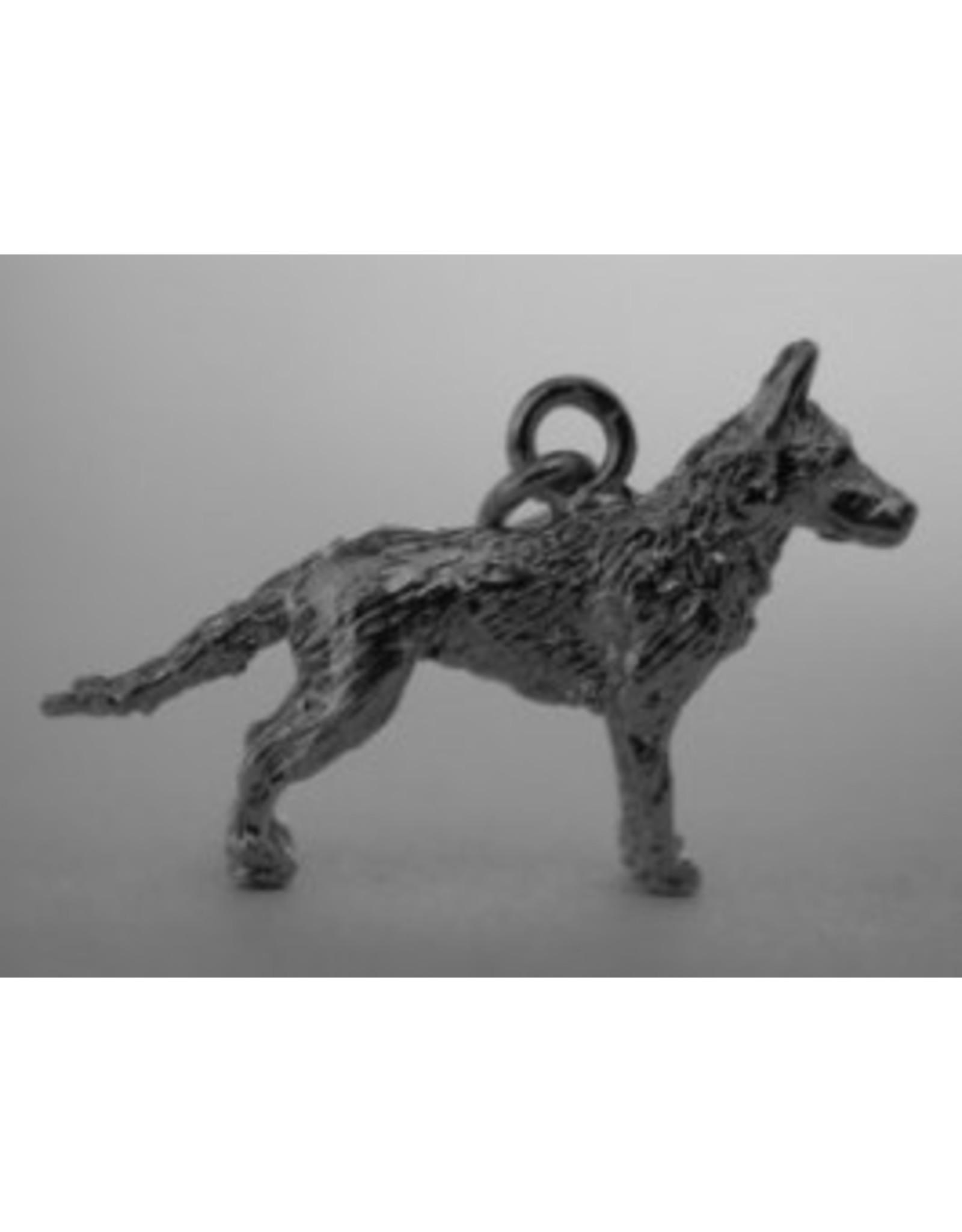 Handmade by Hanneke Weigel Sterling silver Belgian sheperd malinois
