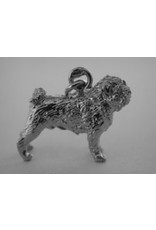 Handmade by Hanneke Weigel Sterling silver Pug