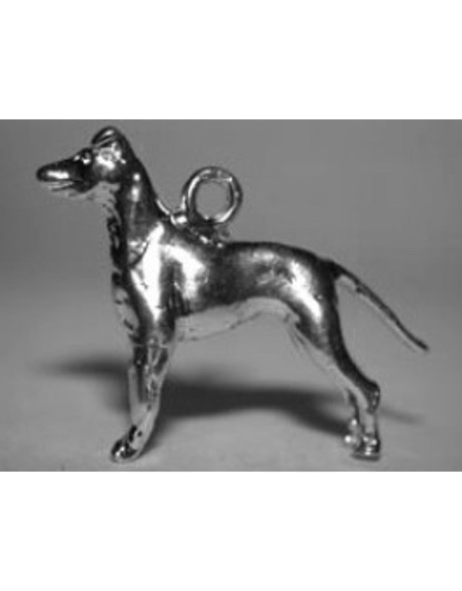 Handmade by Hanneke Weigel Zilveren Manchester terrier