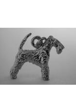 Handmade by Hanneke Weigel Sterling silver Lakeland terrier
