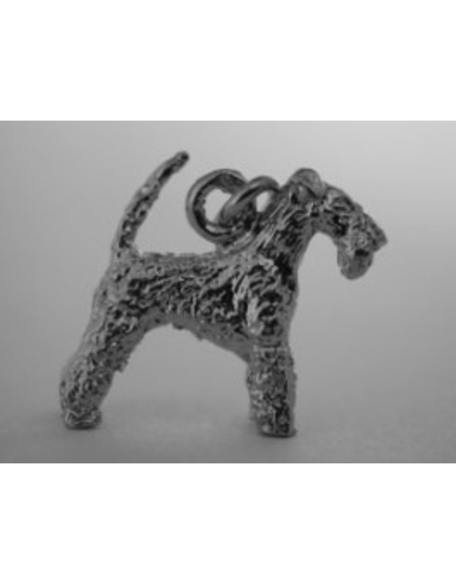 Handmade by Hanneke Weigel Zilveren Lakeland terrier