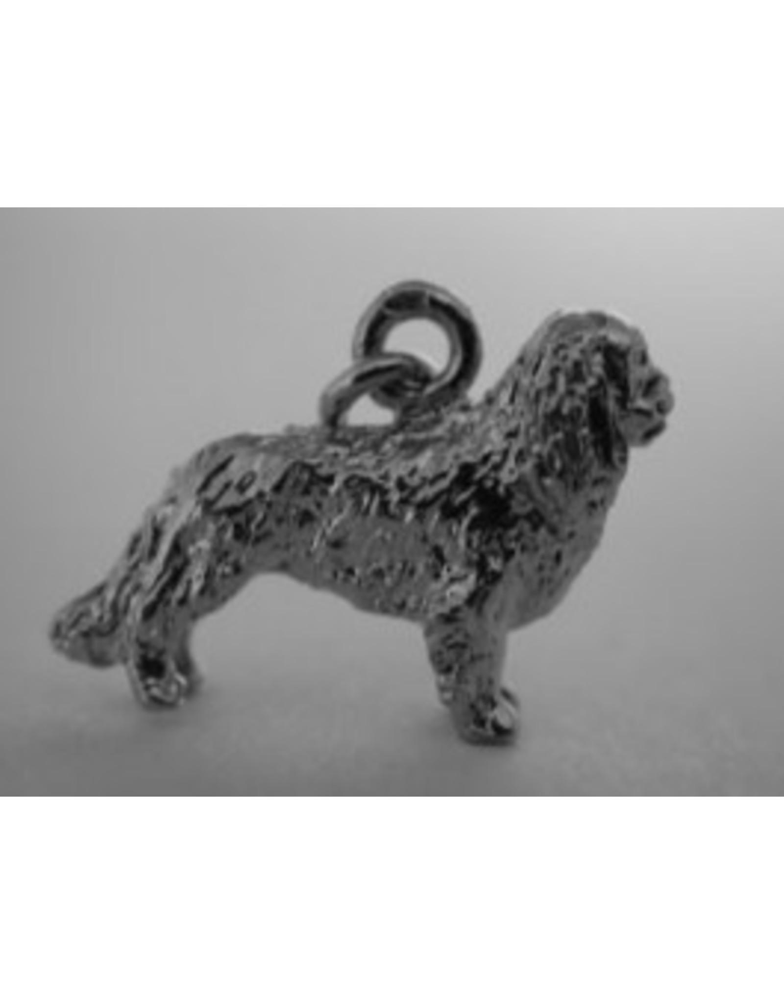 Handmade by Hanneke Weigel Sterling silver King charles spaniel