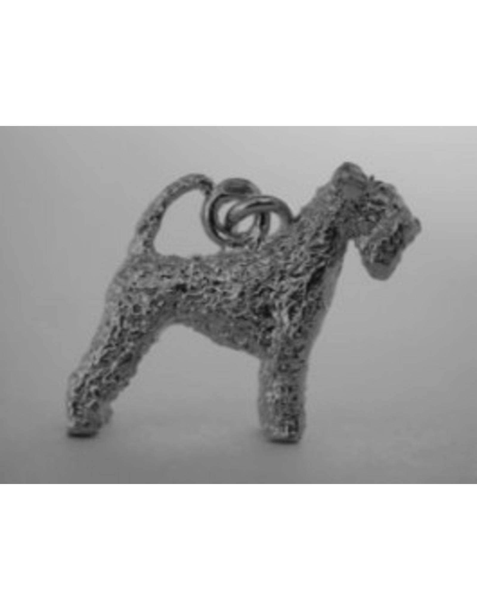 Handmade by Hanneke Weigel Sterling silver Kerry blue terrier