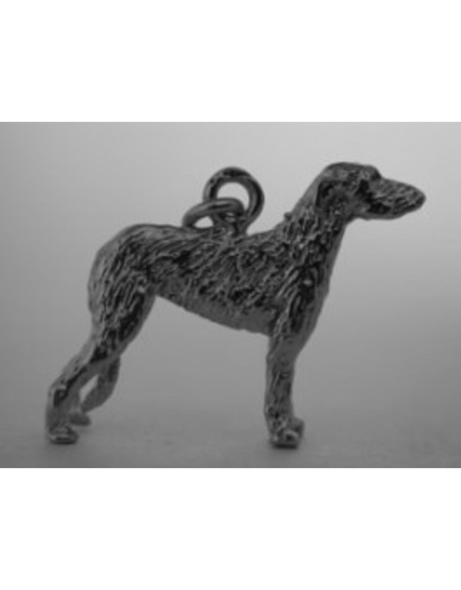 Handmade by Hanneke Weigel Zilveren Ierse wolfshond