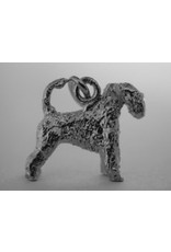 Handmade by Hanneke Weigel Sterling silver Irish soft coated wheaten terrier