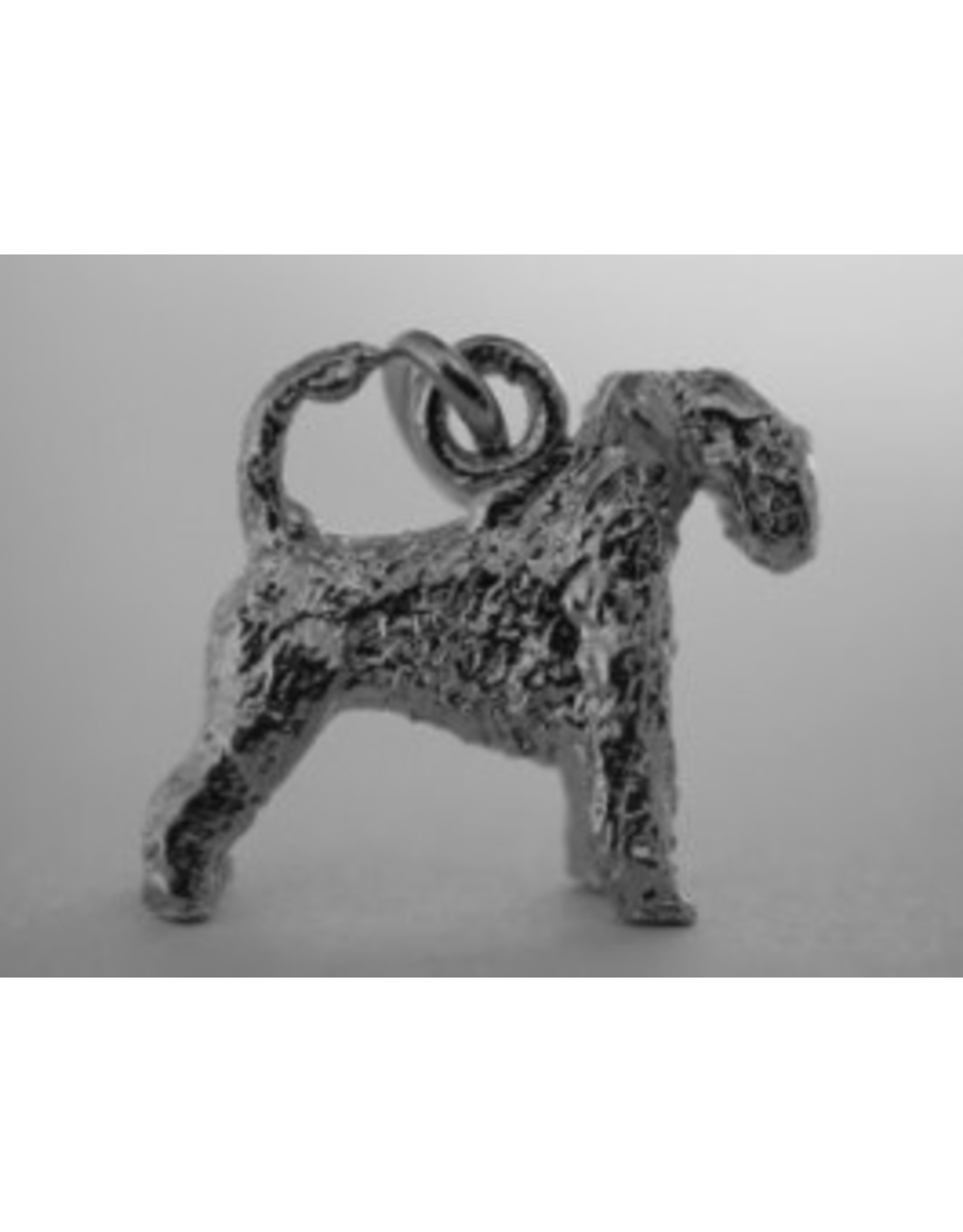 Handmade by Hanneke Weigel Zilveren Ierse soft coated wheaten terrier
