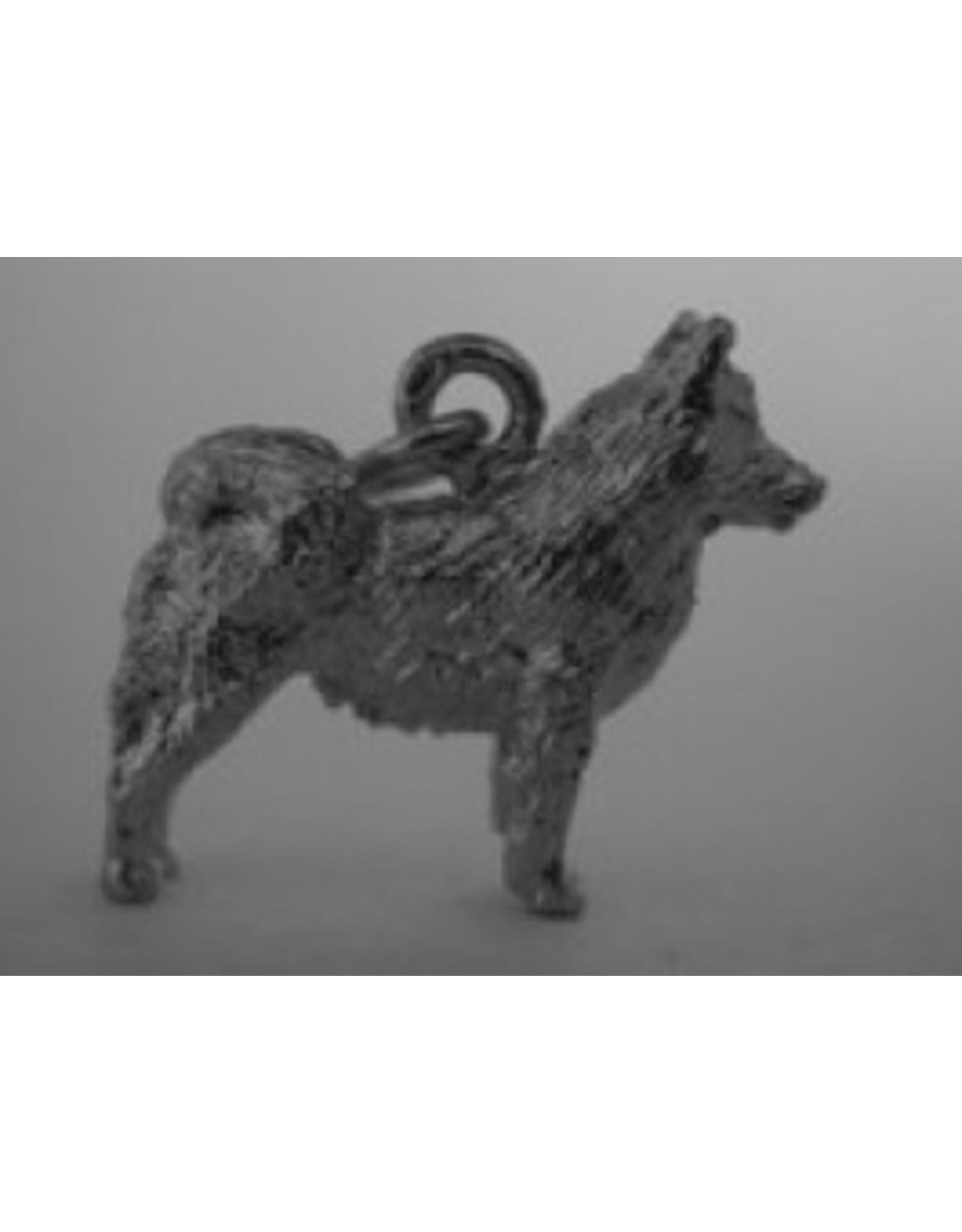 Handmade by Hanneke Weigel Zilveren Ijslandse hond