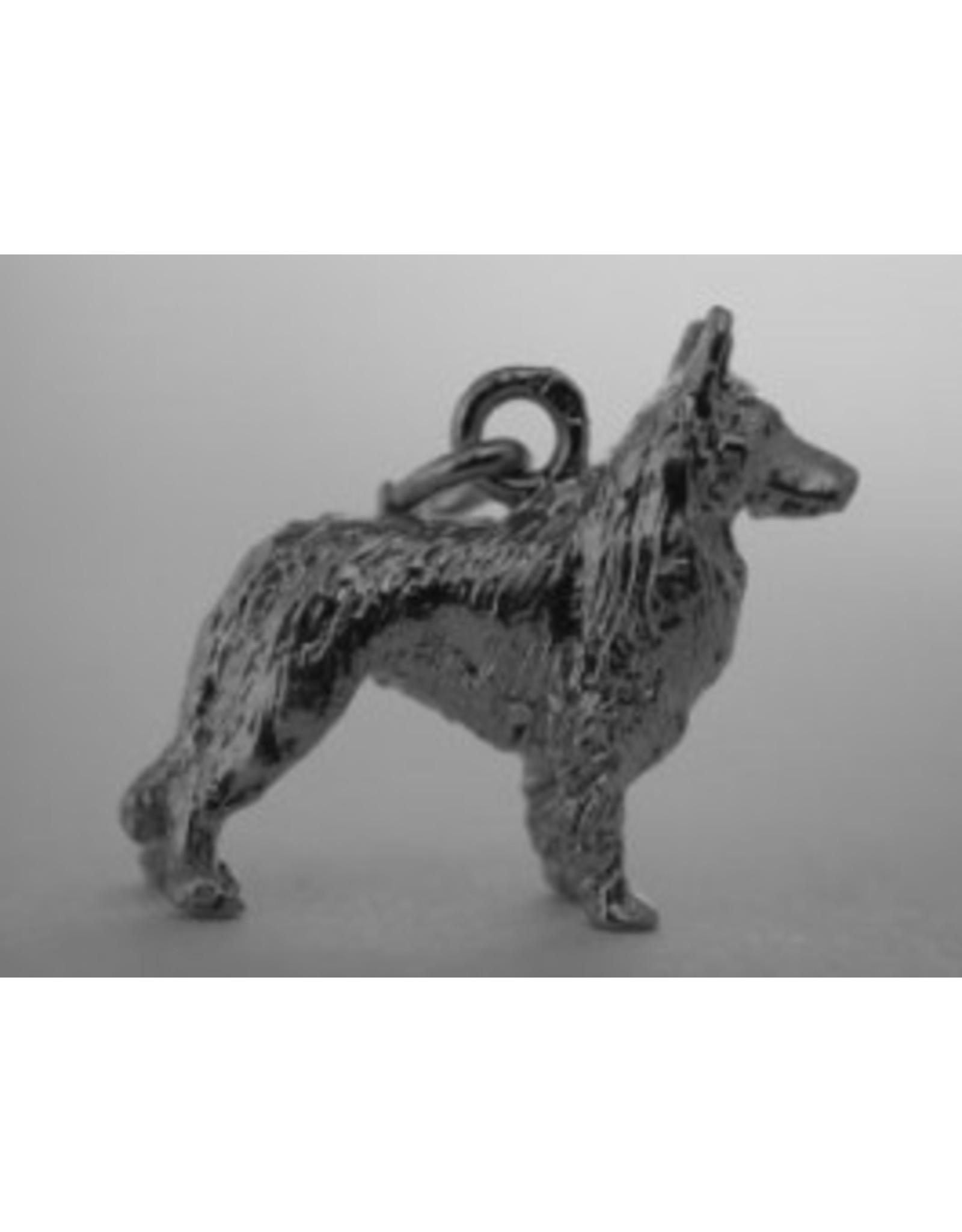 Handmade by Hanneke Weigel Sterling silver Groenendael shepherd
