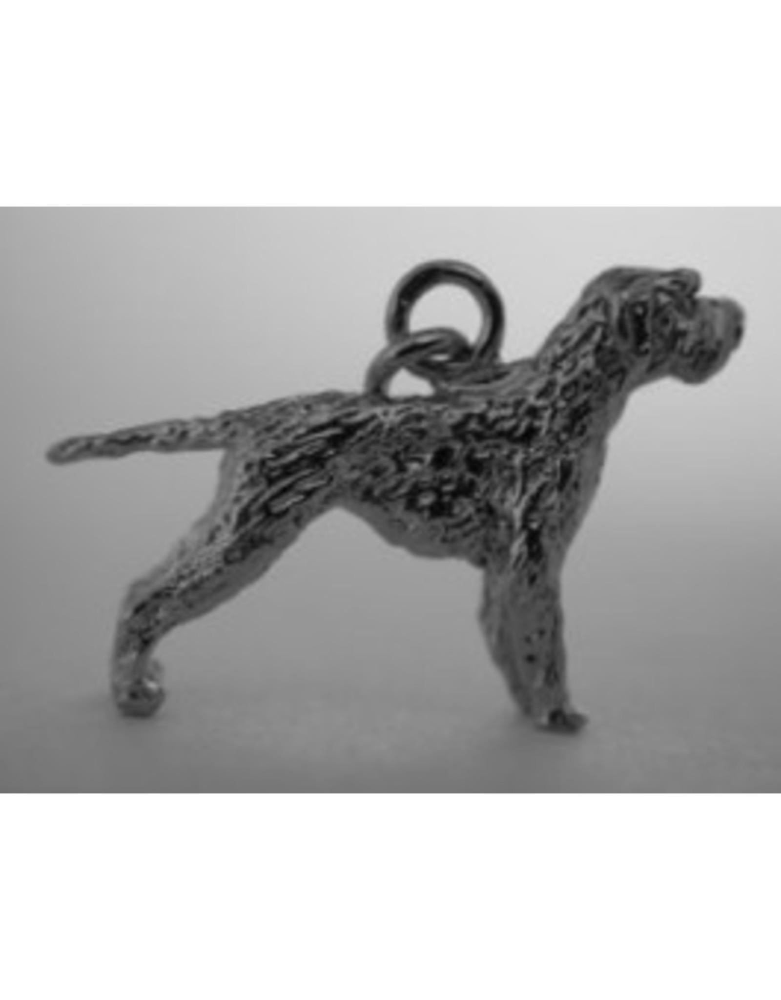 Handmade by Hanneke Weigel Zilveren  Griffon a poil laineaux  boulet