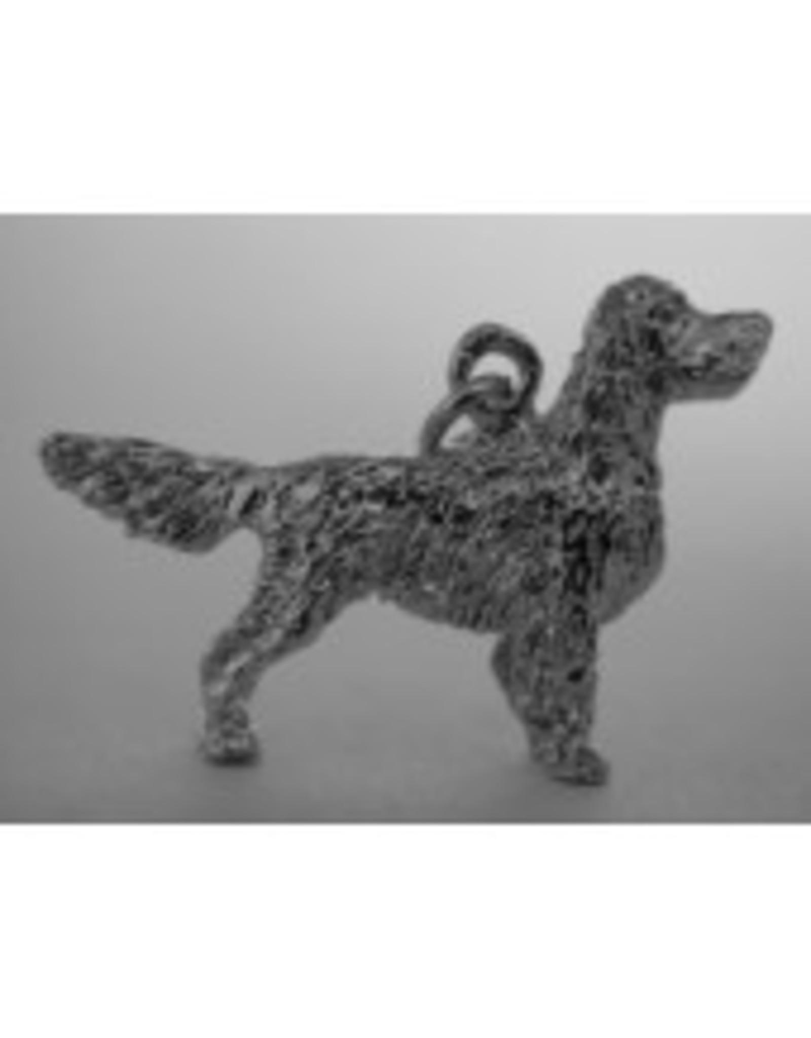 Handmade by Hanneke Weigel Sterling silver Gordon setter