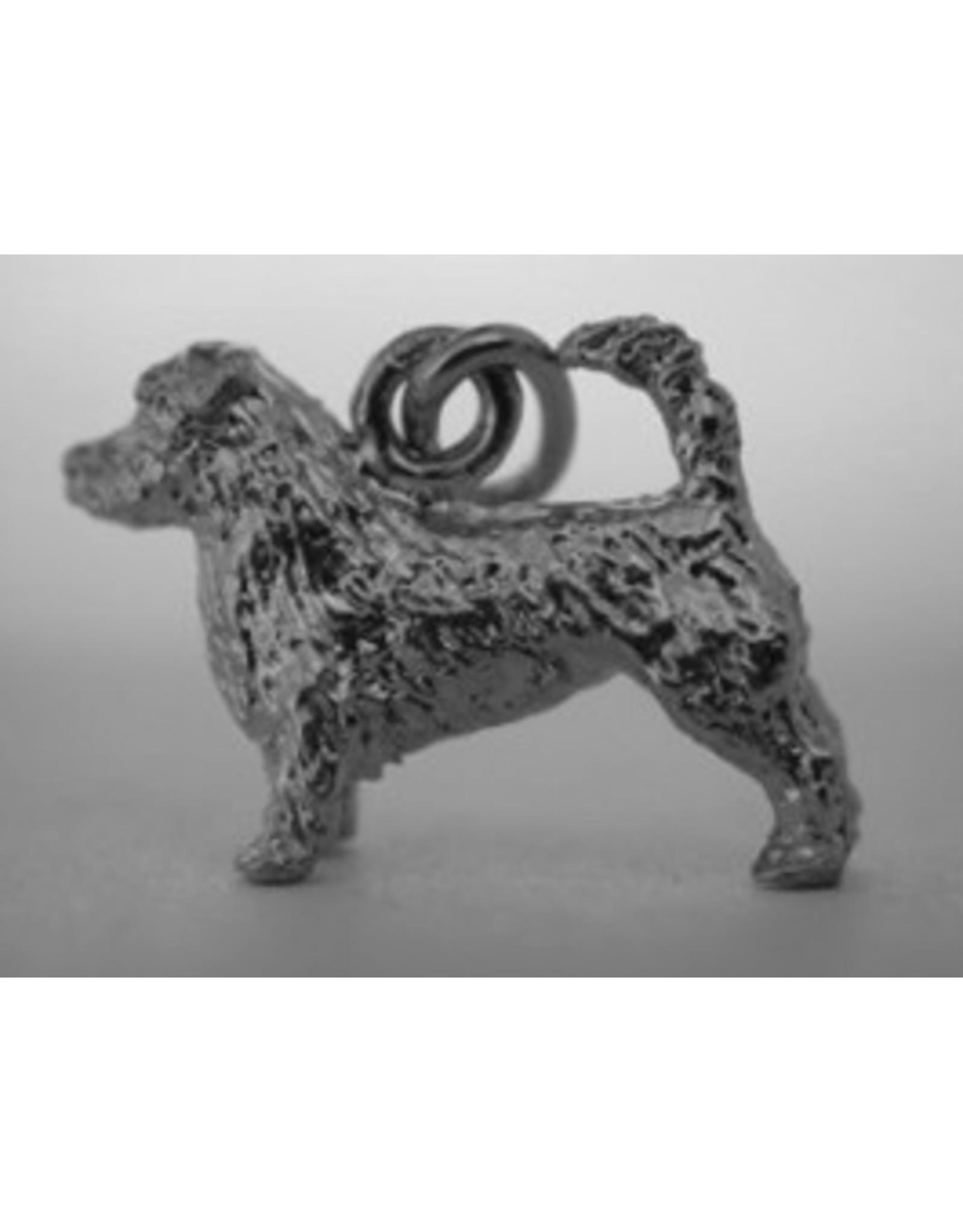 Handmade by Hanneke Weigel Zilveren Glen of imaal terrier