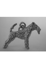 Handmade by Hanneke Weigel Sterling silver Fox terrier wirehaired
