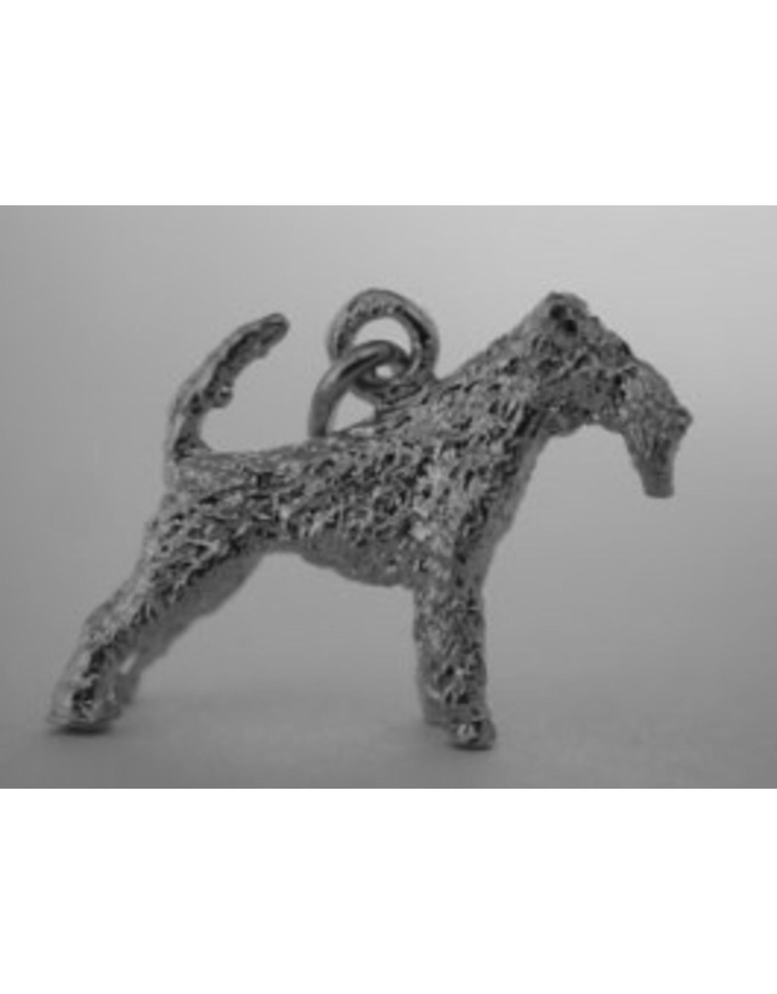 Handmade by Hanneke Weigel Zilveren Fox terrier draadhaar
