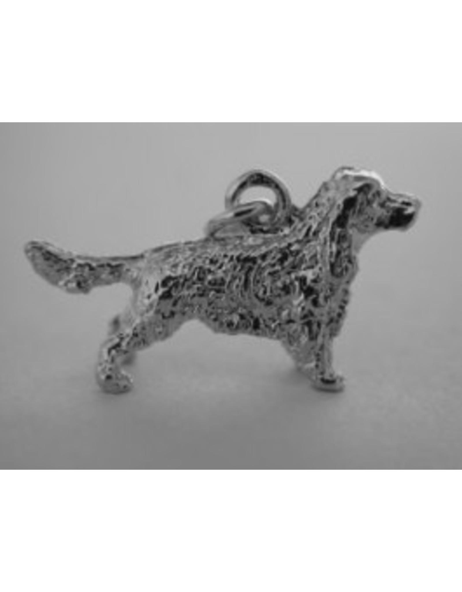 Handmade by Hanneke Weigel Sterling silver Field spaniel