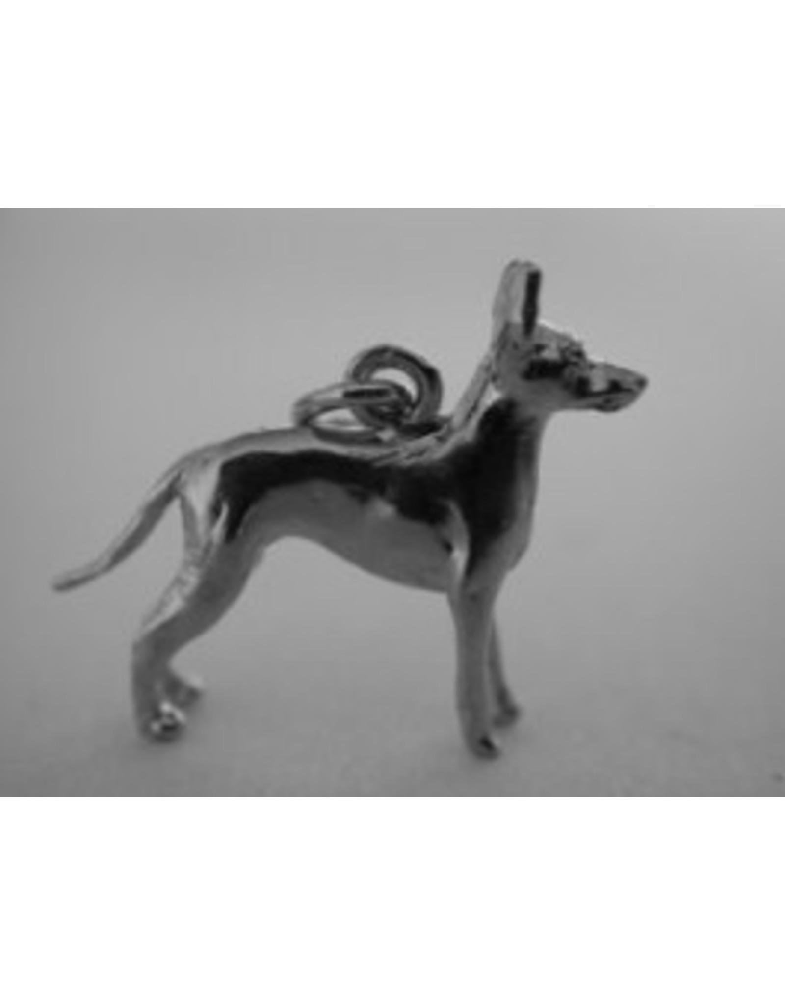 Handmade by Hanneke Weigel Zilveren Engelse toy terrier