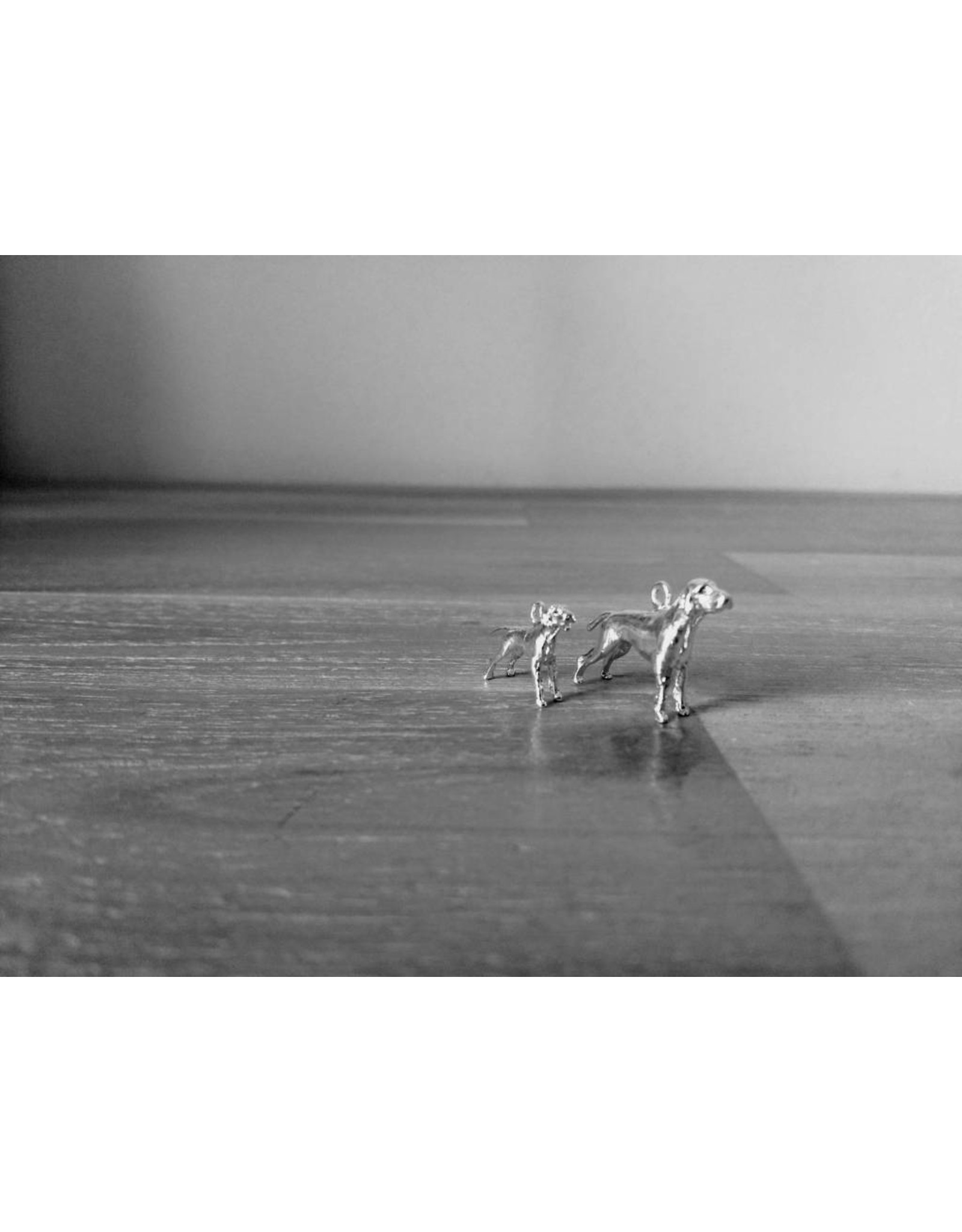 Handmade by Hanneke Weigel Zilveren Duitse staande korthaar